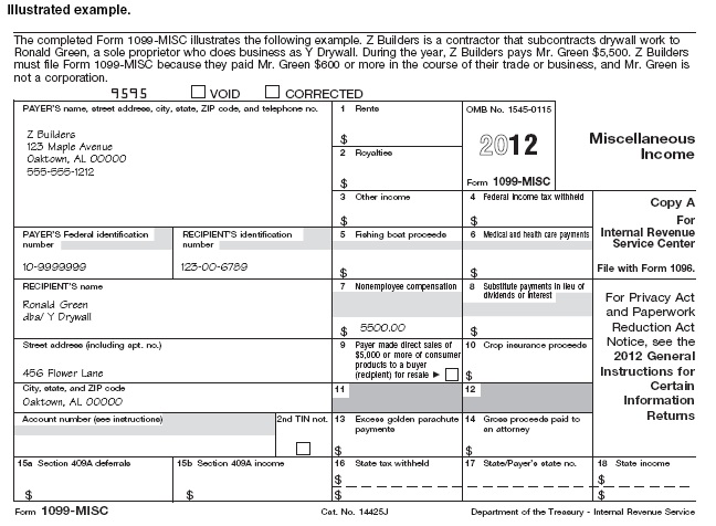Sample 1099 Form Filled Out Divingexperience